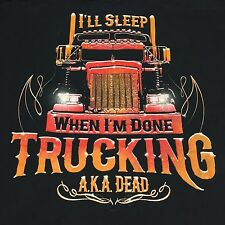 Outdoor Authentics  Semi Truck Black 2x-Large T-Shirt Driver Highway Hauler Rig