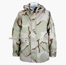 Genuine US Army ECWCS Tricolour Desert Camo Gortex Jacket, NEW, Medium Long