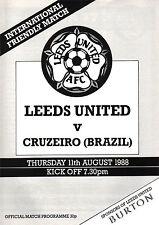 1988/89 Leeds United v Cruzeiro (Brazil), Friendly, PERFECT CONDITION
