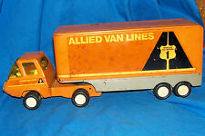 Vintage Tonka Toy Allied Van Lines Moving Company Co. Tractor Trailer Truck Old