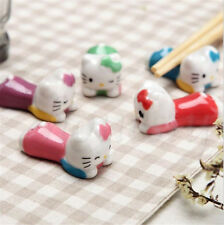 Creative Cute Ceramic Porcelain KITTY Cat Chopsticks Stand Spoon Fork Holder