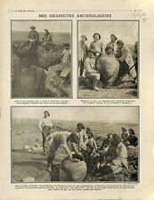 Poilus Soldats Amphores Archéologues Archéologie archaeologists Greece 1916 WWI