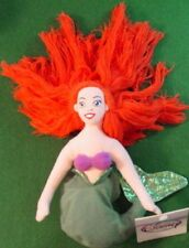"DISNEY Store Little Mermaid ARIEL 8"" Bean Bag Toy MWMT!"