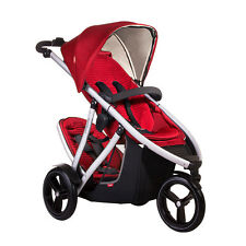 Phil & Teds 2014 New Vibe V3 Stroller & Double Kit Red - Includes Double Seat