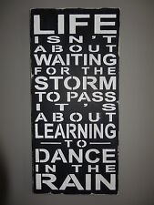 Shabby Dance in the Rain Inspirational wooden Sign Decoration Graduation Gift