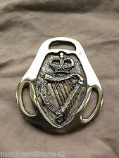 Excellent Vintage British Army London Irish Regiment QC Military Horse brass