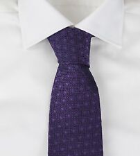 New Tom Ford Luxurious Purple Textured Dot Silk Tie NWT