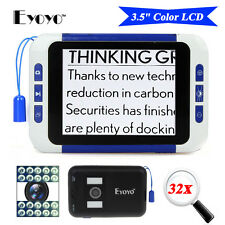 "Eyoyo 3.5"" LCD Screen Low Vision Electronic Video Magnifier Reading Aid 2x-32x"
