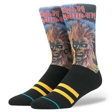 STANCE SOCKS IRON MAIDEN M556A17IRO BLK | BLACK Mens Large 9-12 LEGENDS OF METAL