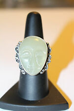True Wicca Blessed Ring Spirit Guide Protection  Size 8 Sterling Silver Overlay