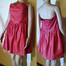 WAYNE COOPER Size 4/12-14 Red Strapless Cocktail Event Dress