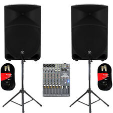 "Mackie THUMP15 Powered 15"" Speakers 2000W with Mixer Stands & More THUMP15SET5"