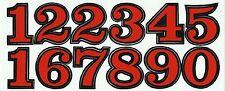 PLANCHE TUNING QUAD 12 AUTOCOLLANT CHIFFRE ROUGE ET NOIR 3,8 X 3 CMS