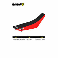 2004-2013 HONDA CRF 250X Red / Black FULL GRIPPER SEAT COVER by Enjoy MFG