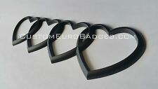 Audi Heart Ring Badge Emblems - A3 A4 A5 A6 A8 Matte Black
