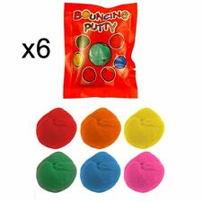 6 Boys Girls Bouncing Putty Party Bag Fillers Toy Pinata Favours Lucky Dips Kids