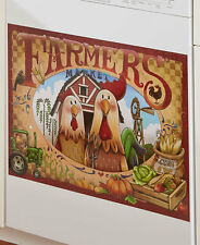 French Country Barn Rooster Dishwasher Magnet Cover Pumpkin Farmhouse Magnet