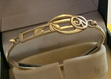 Superb Ladies Fully Hallmarked Vintage Solid Silver Art Nouveau Style Bangle