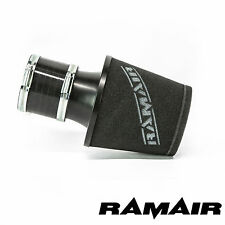 RAMAIR UNIVERSAL TWIN LAYER FOAM BLACK AIR FILTER 80MM ID WITH SILICONE COUPLING