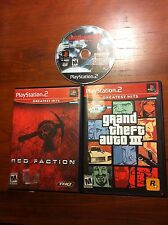 Playstation 2 games Red Faction, Grand Theft Auto III, Devil May Cry 3 PS2 games