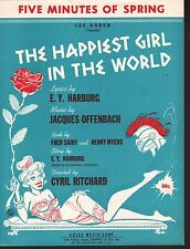 Five Minutes of Spring 1961 Happiest Girl in the World Sheet Music