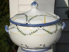 Handmade Portuguese Covered Serving Dish Bowl Barneys New York Portugal