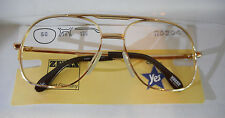 Vintage Zeiss R5204 Gold 56/16 Double Bridge Men's Metal Eyeglass Frame New