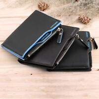 MENS LUXURY QUALITY LEATHER WALLET, ID CREDIT CARD HOLDER, ZIP Bifold COIN PURSE