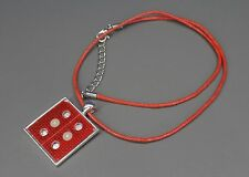 SteamTronix - Computer Circuit Board Pendant (red,square,silver,engineer,gift