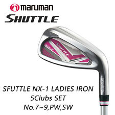 MARUMAN GOLF JAPAN SHUTTLE NX-1 LADIES IRON SET No.7-9,PW,SW (5clubs)