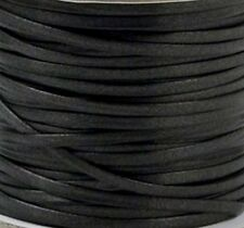 """BLACK IMPERIAL FAUX LEATHER LACE 1/8"""" x 50 yards 5100-01 Tandy Craft Spool"""