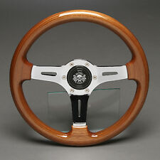 Holzlenkrad Sportlenkrad Holz Chrom 330mm VW Golf Cabrio Polo Caddy Jetta Passat
