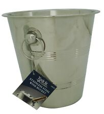 Brand New 2 x Stainless Steel Bowl Bucket Champagne Wine Cooler Bucket