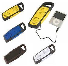 Casse acustiche portatili per lettore MP3 con moschettone 15x5,6x2,5 ABS+PVC