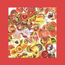 100 Pre-Cut assorted THANKSGIVING BOTTLE CAP IMAGES Variety Mix 1 inch discs
