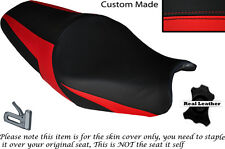 DESIGN 2 RED CUSTOM FITS KAWASAKI ZZR 1400 ZX14R 12-14 DUAL LEATHER SEAT COVER