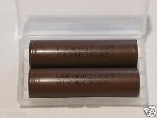 2 LG INR 18650 HG2 HIGH DRAIN 20A RECHARGEABLE Battery 3000mAh BROWN F.T w/ case