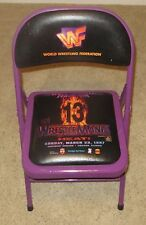 WWE Wrestlemania 13 Official Ringside Chair WWF Wrestling 1997 PPV Event