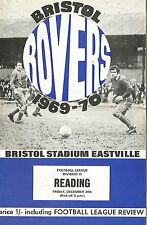 Football Programme - Bristol Rovers v Reading - Div 3 - 1969