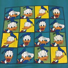 Vintage Donald Duck T-Shirt Walt Disney World Land Designs Cartoon Bird Mickey