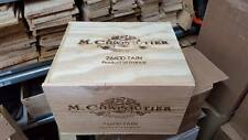 1 X 6 BOTTLE WITH LID - GENUINE FRENCH WOODEN WINE CRATE BOX CHRISTMAS GIFT IDEA