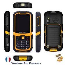 Téléphone Portable Mobile GSM Débloqué double SIM touche Robuste résiste à l'eau