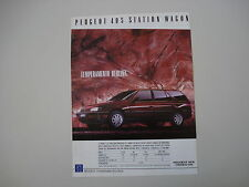 advertising Pubblicità 1989 PEUGEOT 405 STATION WAGON