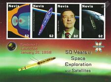 EXPLORER 1 Satellite / 50 Years of Space Exploration Stamp Sheet / 2008 Nevis