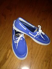 LOOK!! Men's Halyard Sperry Top Sider Boat Shoes Sz 12M Blue New W/O Box ⛵️