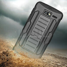 For Motorola Droid Razr M/I XT907 Luge Hybrid Rugged Armor Case Cover Holster