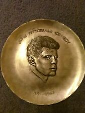 """Wendell August forge pewter plate,John F Kennedy 9"""""""