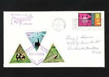 Postally Used LOCAL POST 3 Triangles Rattlesnake Island Port Clinton OH 1974 m