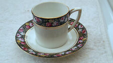 1900 - 1913 GRAFTON CHINA COFFEE CAN AND SAUCER IN POMPADOUR PATTERN
