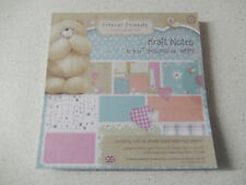 "Docrafts: ""Forever Friends"" 48x Designpapier ""Kraft Notes"" 15,2x15,2cm -02"